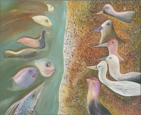 Sosa Joseph, dialogue I, 2008, Oil on canvas, 61 x 76 cm