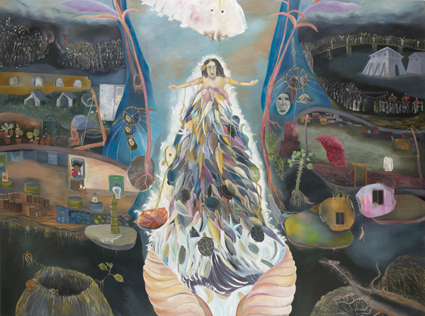 Sosa Joseph, Incomplete Lessons, 2009, oil on cancas, 191x260 cm