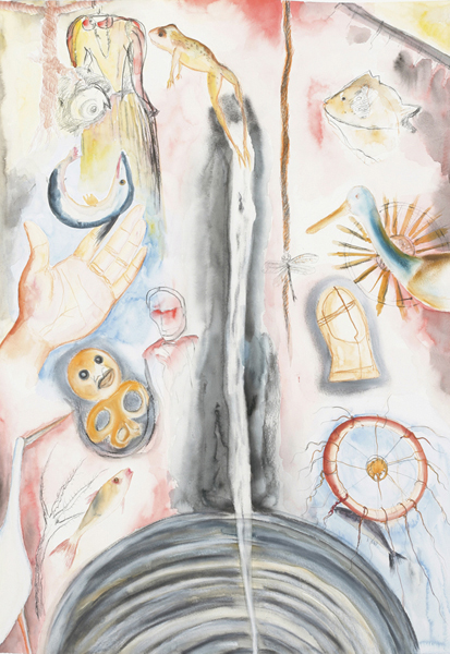 Sosa Joseph, Jump At, 2009, Watercolor and Pencil on paper, 50 x 70 cm